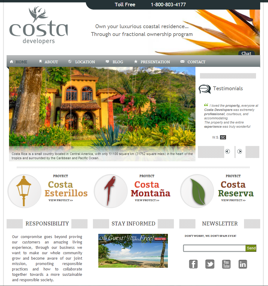 Visit Our New Site by Costa Developers Fractional Ownership Program vacations real estate properties house hotel homes home fractional owners costa rica costa developers